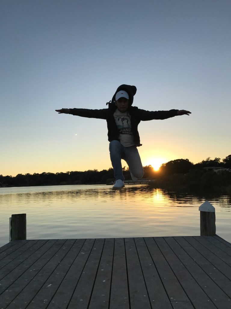 Me being happy and practicing The Matrix over sunsets.
